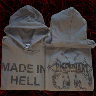 """EISENHART HOODIE GREY """"made in hell"""""""